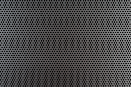 mesh texture: Metallic background with perforation of round holes