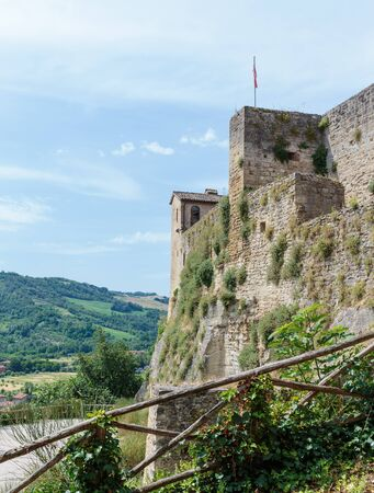 fortress: Medieval fortress of Italy Stock Photo
