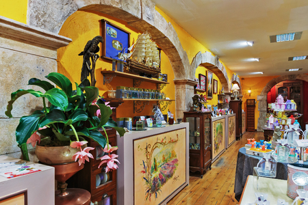 france perfume: GRASSE, FRANCE - OCTOBER 31, 2014: Old perfume shop Editorial