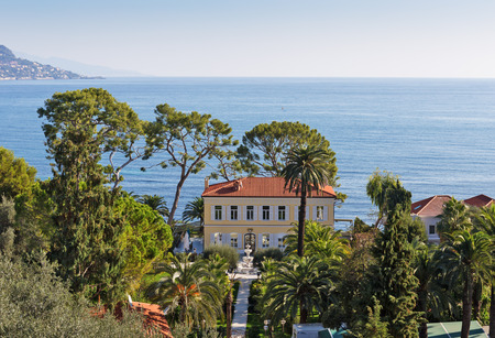 cote d'azur: Panoramic view of Cote dAzur near the town of Villefranche-sur-Mer