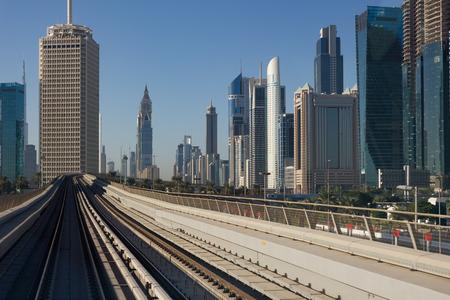 longest: DUBAI, UAE - NOVEMBER 18: Dubai Metro as worlds longest fully automated metro network (75 km) on November 18, 2012, Dubai, UAE. Editorial