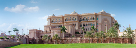 persian gulf: ABU DHABI, UAE - NOVEMBER 5: Emirates Palace in Abu Dhabi on November 5, 2013 in Dubai. Emirates Palace was originally conceived as a venue for government summits and conferences in the Persian Gulf