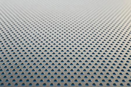 metallic: Metallic background with perforation of round holes