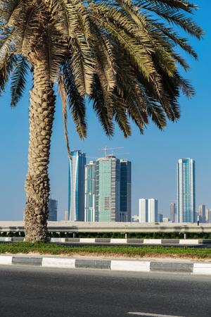 sharjah: SHARJAH, UAE - NOVEMBER 01: Sharjah - general view, on November 01, 2013. Sharjah is located along northern coast of Persian Gulf on Arabian Peninsula