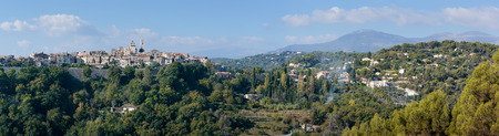 vence: Panoramic view of the old mountain village Vence, Provence Alpes Cote dAzur, France.