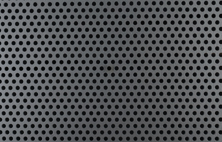perforation: Metallic background with perforation of round holes