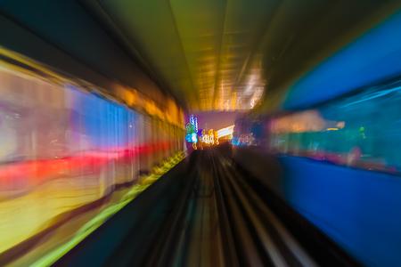 blur subway: Abstract background metro subway tracks blur Stock Photo