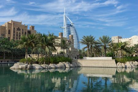 DUBAI, UAE - NOVEMBER 15, 2012: General view of the worlds first seven stars luxury hotel Burj Al Arab Tower of the Arabs