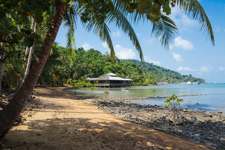 chang: Tropical beach on the island Koh Chang in Thailand Stock Photo