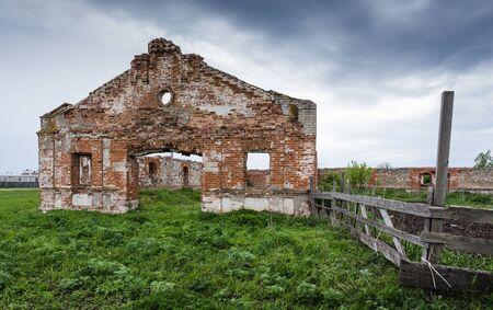 stud: Dilapidated stud farm 19th century