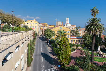 GRASSE, FRANCE - OCTOBER 31, 2014: Panoramic view of downtown, Grasse is the world perfumes capital with the famous Fragonard perfumery.