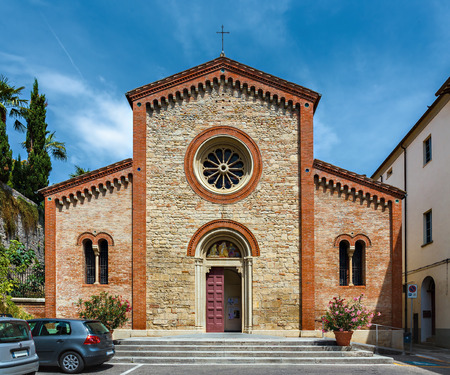 Capilla católica medieval en Italia Foto de archivo