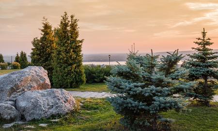Park on the banks of the Volga River near Samara