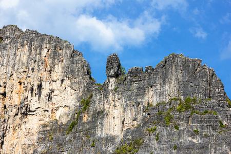 Cliff island of phi phi leh Krabi, Thailand