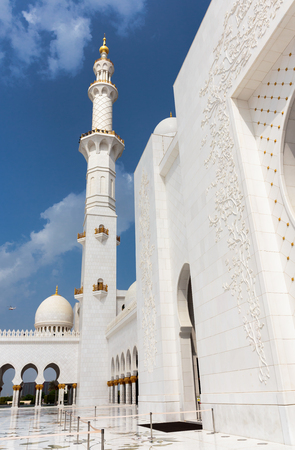 ABU DHABI, UNITED ARAB EMIRATES - NOVEMBER 5: Sheikh Zayed Grand Mosque November 5, 2013 in Abu Dhabi, United Arab Emirates. The famous Sheikh Zayed mosque is the largest mosque in UAE