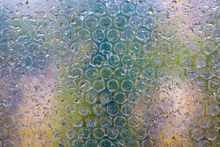 Bubble bursting polyethylene safety cellophane for packing Stock Photo