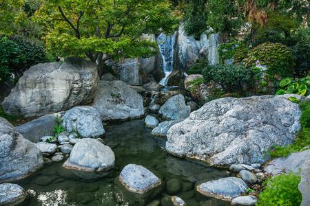 Japanese garden in Monte Carlo, Monaco Stock Photo