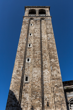 Tower of the Parish of San Silvestro in Venice Archivio Fotografico