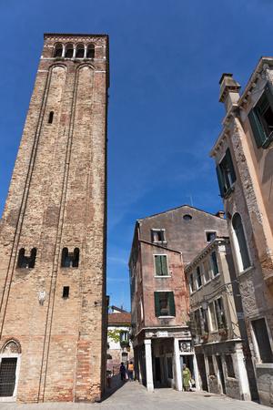 VENICE, ITALY - JUNE 26, 2014: Campo San Silvestro