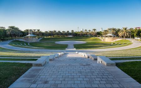 DUBAI, UAE - DECEMBER 4, 2017: Panoramic view of the Zabeel Park