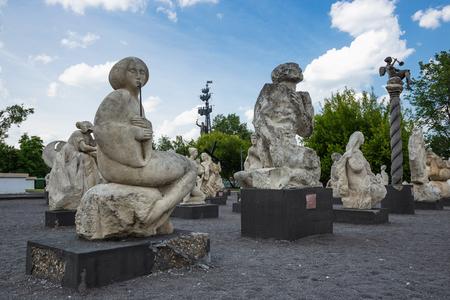 Moscou, Russie - 19 juin 2018: sculptures modernes dans Muzeon Park of Arts