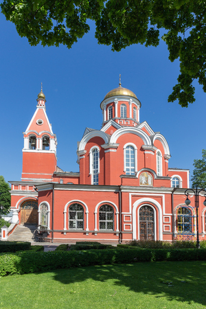 The Church of the Annunciation in Petrovsky Park of Moscow 写真素材