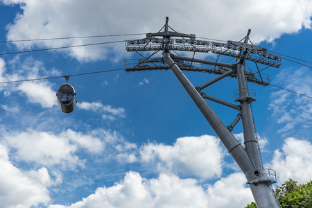 cable car against the blue sky Reklamní fotografie