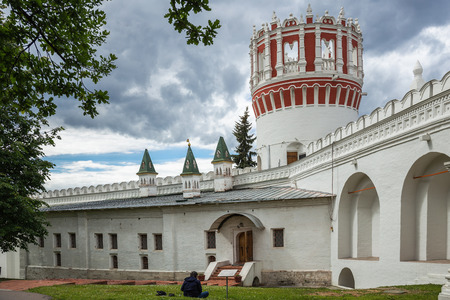 Picturesque view of the Novodevichy Convent in Moscow, Russia Banco de Imagens