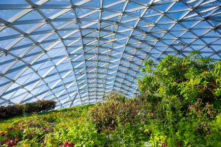 MOSCOW, RUSSIA - June 15, 2018: Orangery in the Zaryadye Park in the center city