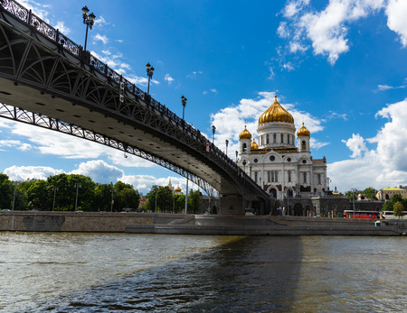 MOSCOW, RUSSIA - June 9, 2018: Cathedral of Christ the Savior in Moscow
