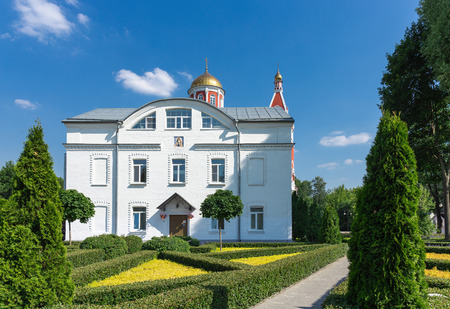 The Church of the Annunciation in Petrovsky Park of Moscow Archivio Fotografico