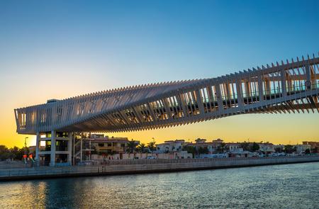 DUBAI, UAE - NOVEMBER 29, 2017: Bridge on a Dubai Water Canal