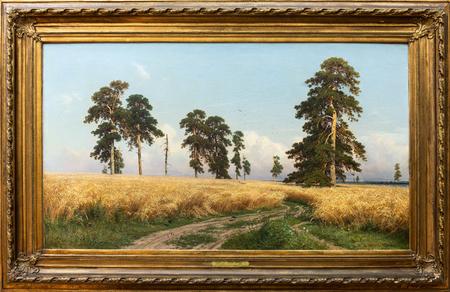 MOSCOW, RUSSIA - June 12, 2018: State Tretyakov Gallery-SHISHKIN I.I. RYE