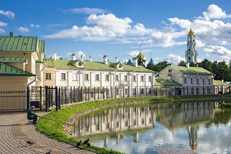 SERGIEV POSAD, RUSSIA - June 21, 2018: Lake in city Sergiev Posad, Russia