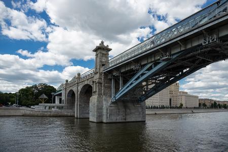MOSCOW, RUSSIA - June 25, 2018: Pushkinsky (Andreyevsky) Bridge for pedestrians