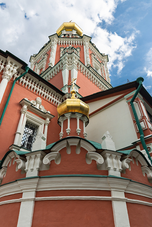 MOSCOW, RUSSIA - JUNE 17, 2018: Temple of the Epiphany in Moscow in China Town