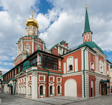 MOSCOW, RUSSIA - JUNE 17, 2018: Church of the Epiphany in Moscow in China Town