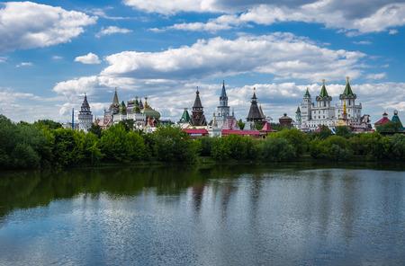 Izmaylovsky Kremlin in Moscow. Russian architecture Stock Photo