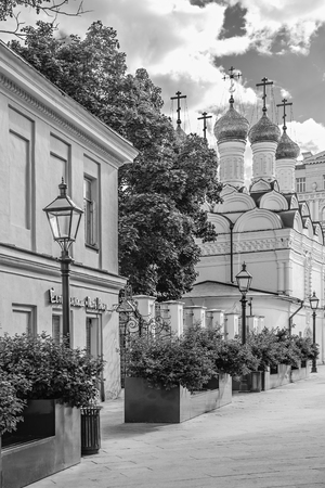 MOSCOW, RUSSIA - JUNE 9, 2018: Chernihiv lane in Moscow