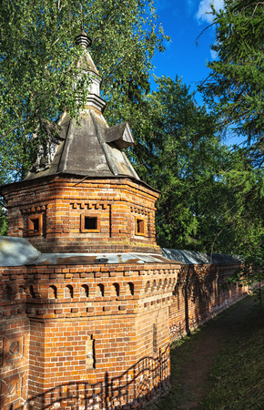 Old monastery wall in Sergiev Posad, Russia