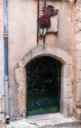 VENCE, FRANCE - 30 OCTOBER, 2014: Facade of an old French house