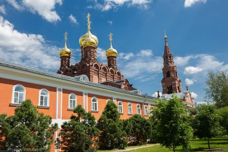 Christian monastery in the ancient Russian town of Sergiev Posad 版權商用圖片