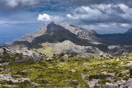 Picturesque landscape in the mountains of Tramontana on the island of Mallorca