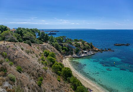 General view of the beach of Mallorca island, Spain