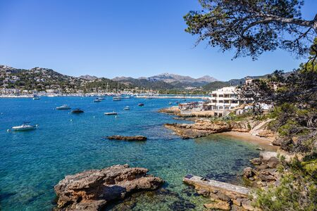 Panoramic view of the Bay Andratx , Mallorca Spain Imagens