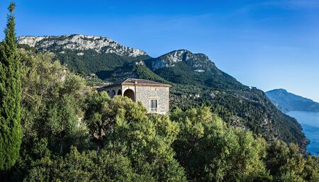 Panoramic view of the West coast of Mallorca, Spain Imagens