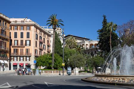 Palma de Mallorca, Spain - 01.06.19: Central city square