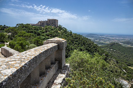 Santuari de Sant Salvador Monastery, Santuario de San Salvador, near Felanitx,  Mallorca, Balearic Islands, Spain.