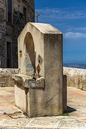 Mallorca, Spain - 07062019 : Santuari de Sant Salvador Monastery, Santuario de San Salvador, near Felanitx,  Mallorca, Balearic Islands, Spain. Editorial