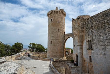 Mallorca, Spain - 09062019 : Bellver Castle fortress in Palma-de-Mallorca, Spain Editorial